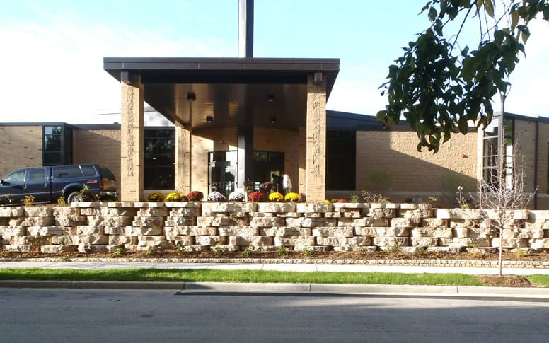 Retaining wall by Brinkmann Construction