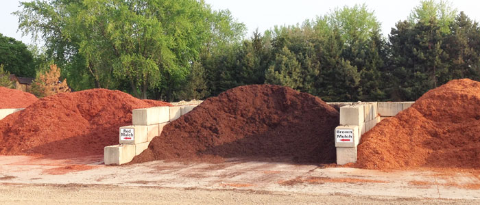 Various colored mulches
