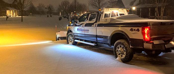 Brinkmann Construction snow plow